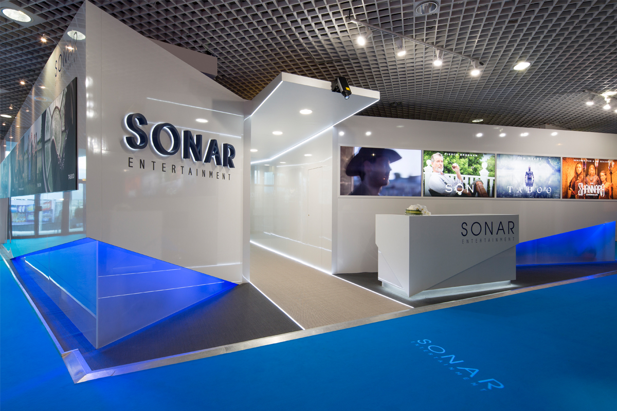 Exhibition Stand Design Process : Sonar exhibition design booth over and