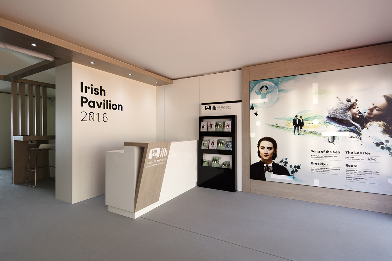Exhibition Stands Ireland : Irish film board exhibition stand at cannes festival